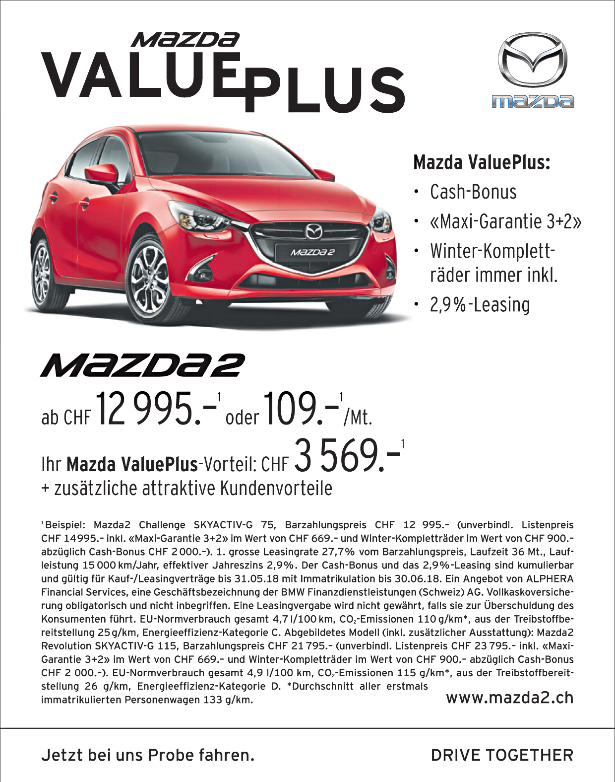 Mazda ValuePLUS bis 31.08.2018!