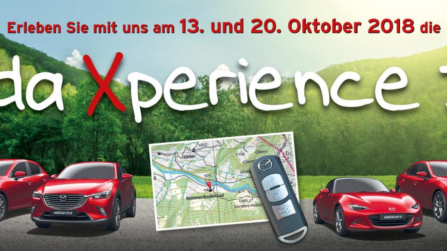 Unsere Mazda Xperience Days am 13. und 20. Oktober 2018