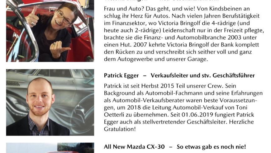 Garage Oetterli Newsletter No. 1 / 2019